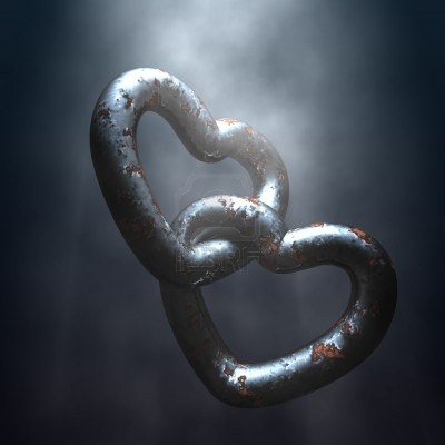 2147007-two-strong-bonded-love-chains-attached-together--3d-illustration