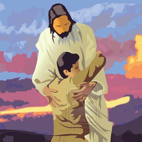 Jesus-hug-me